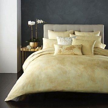 donna karan home atmosphere gold quilted european sham bedding collections bed u0026 bath macyu0027s