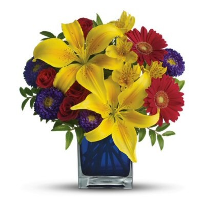 Primary Colors In A Floral Arrangement Are A Great Choice