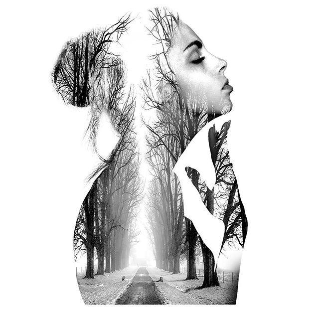 @mareykrap 's daily art work 2. . . #20170112 #art #artwork #dailylook #daily #dailyworkout #adobe #photoshop #doubleexposure #contemporaryart #drawing #conceptart #ootd #그림 #포토샵 #이중노출 #드로잉 #낙서 #데일리