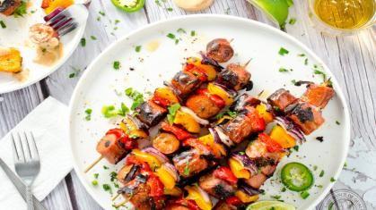 Grimm's Sizzlin' Jalapeno & Mozzarella Smokie Kebab with Chipotle Aioli