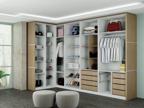 Projetos de closets pequenos com medidas vestidores for Closets abiertos pequenos