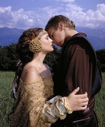 Star Wars: Episode II — Attack of the Clones: Anakin (Hayden Christensen) shares a kiss with Padmé (Natalie Portman) after their nuptials.