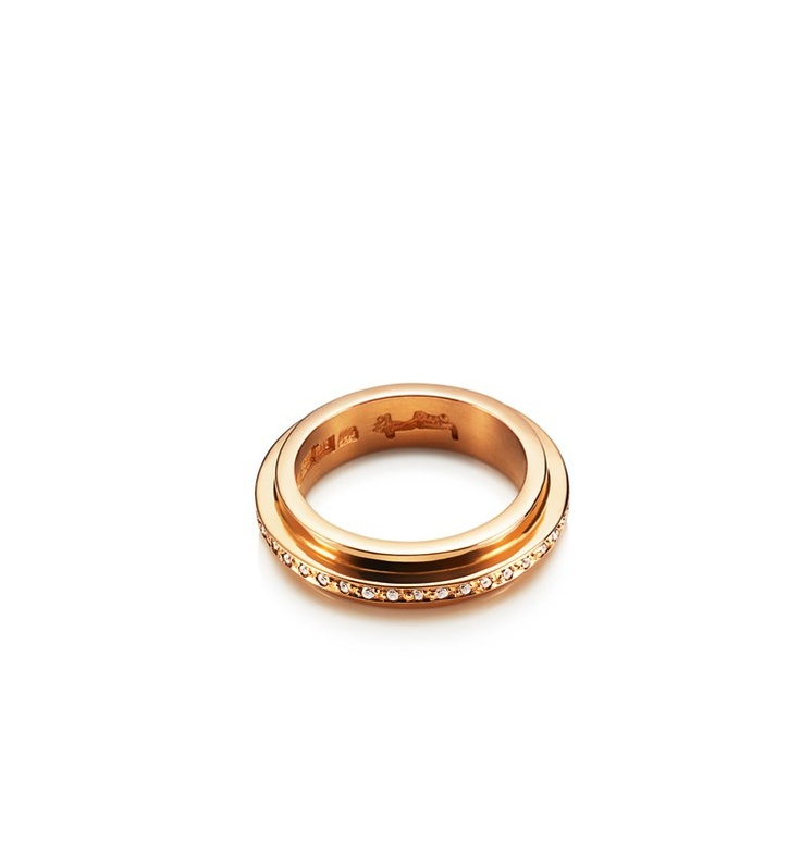 Efva Attling - Amor Vincit Omnia Star Edge - $3,770. Gold or white gold ring with diamonds.