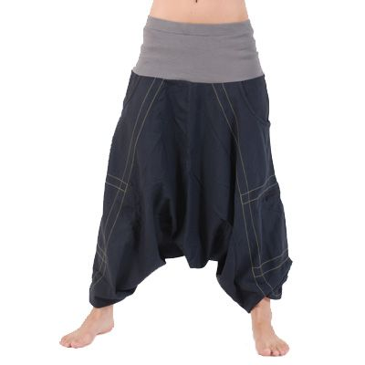Afghani stijl harembroek grijs - Hippie Yoga