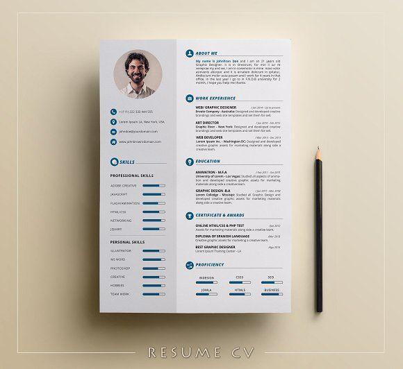 Resume/CV by Elegant-Design on @creativemarket