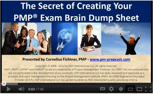 The Project Management Professional #PMP Exam is a 'closed' book exam. That means the only reference material you are allowed to carry into the testing facility has to be contained in your brain. A Brain Dump is a proven and effective way to bring reference material into the testing facility and it will help you to think clearer while you're taking the PMP exam. But there's another secret to it, too...