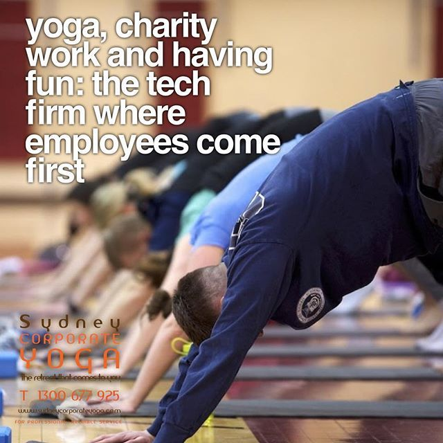 Yoga charity work and having fun: the tech firm where employees come first http://bit.ly/2CdkdJO