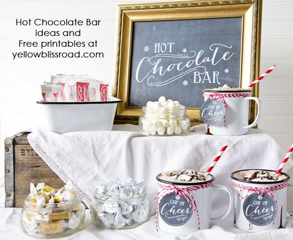 Hot Chocolate Bar with Free Chalkboard Printables - Yellow Bliss Road