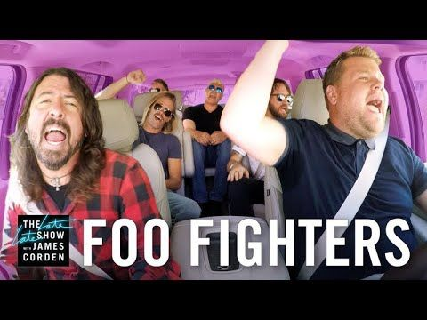 James and the Foo Fighters take a drive through Los Angeles singing the band's classics before dropping into a music store for a quick drumming session with ...