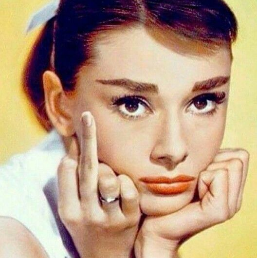 Audrey middle finger