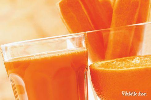 Sárgarépa-narancs turmix  kedd  reggeli  410 Kcal