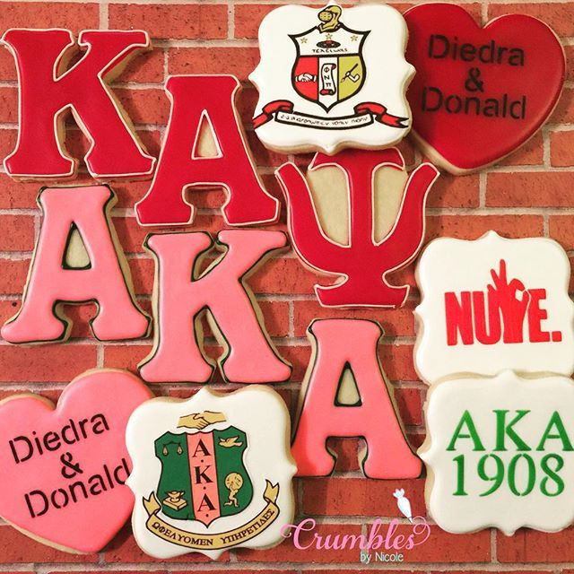Kappa Alpha Psi/Alpha Kappa Alpha cookies