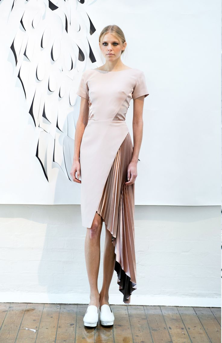 SS16 LFW Presentation - Georgia Hardinge, a sculptural fashion label inspired by architecture and innovative pleating techniques.