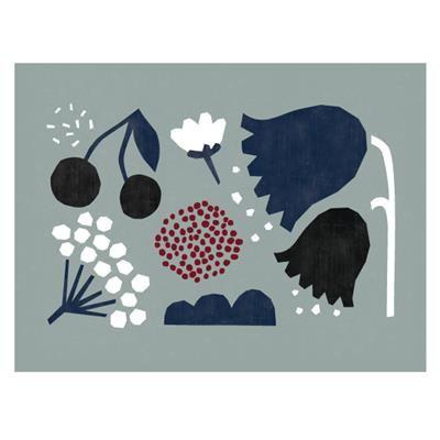 Affiche florale grise 28,00 $