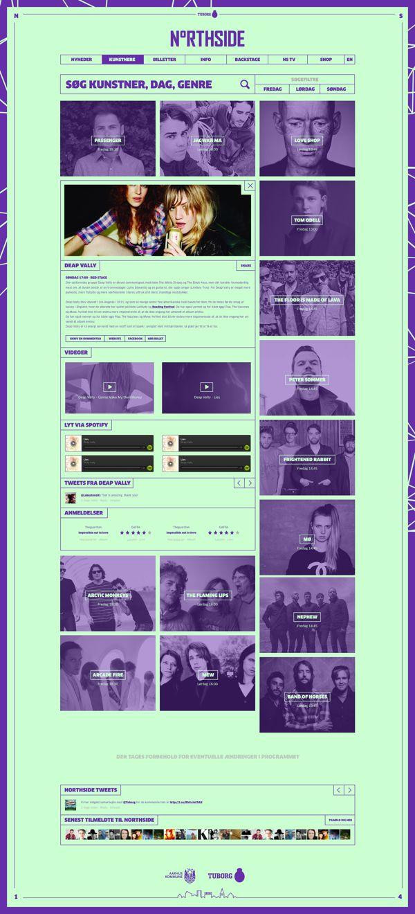 Northside 2014 - Music festival by Morten Lybech, via Behance