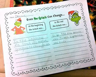 The Grinch movie vs. How The Grinch Stole Christmas book comparison FREEBIE