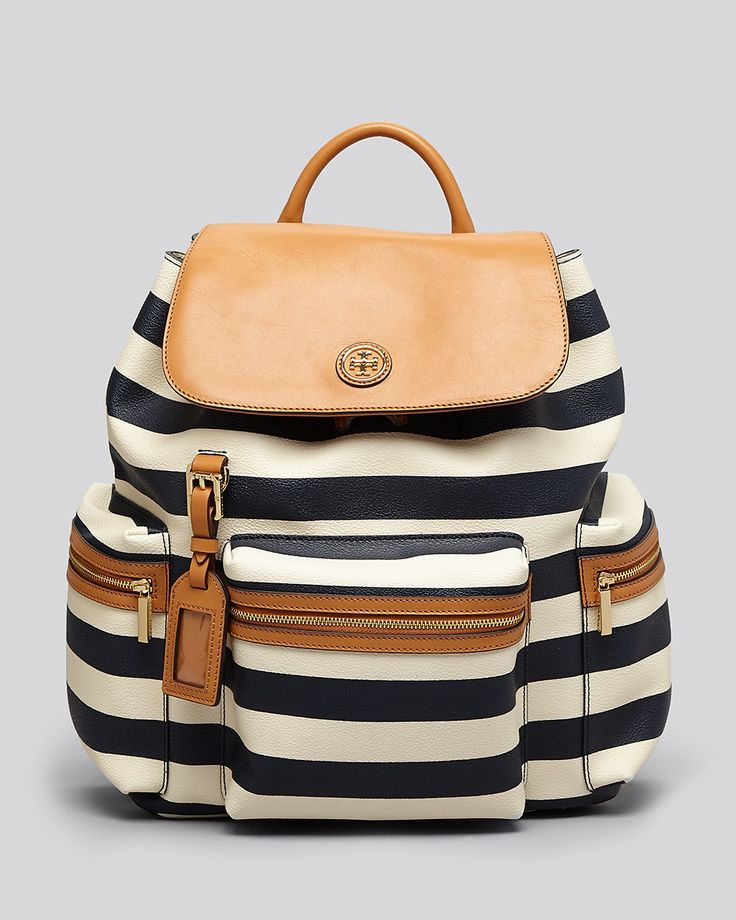 Tory Burch Backpack - Kerrington Striped | Bloomingdale's