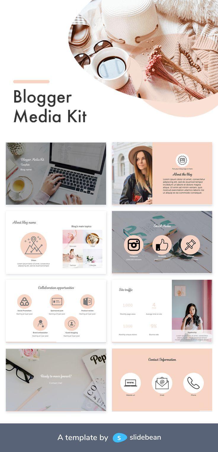 Blogger Media Kit Template Free Pdf Ppt Download Slidebean Blogger Media Kit Blogger Media Kit Template Blog Media Kit