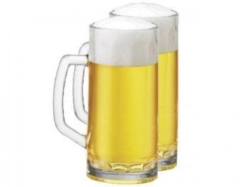 Caneca para Chopp 500ml 2 Peças - Ruvolo Premium Beer Berna Canelada