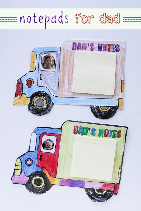 Handmade notepads for dad