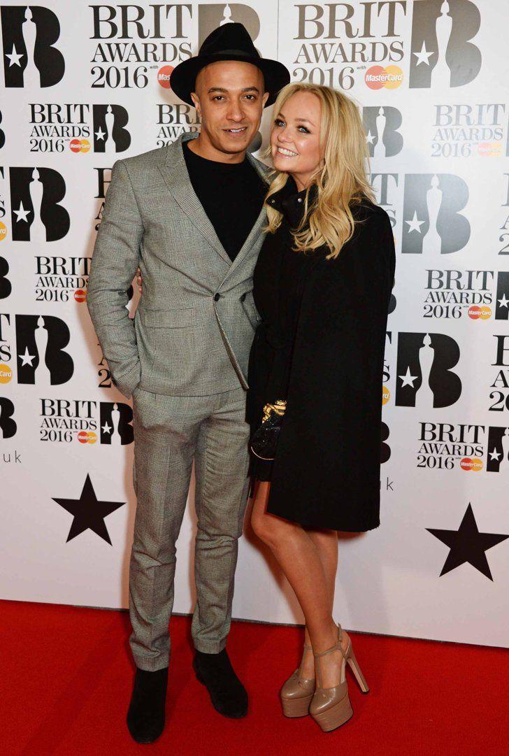 Pin for Later: Les Stars de la Musique Se Rendent à Londres Pour les Brit Awards Jade Jones et Emma Bunton