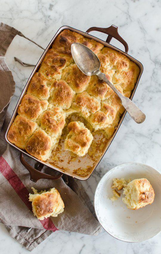 no-knead recipe for potato rolls. yum!