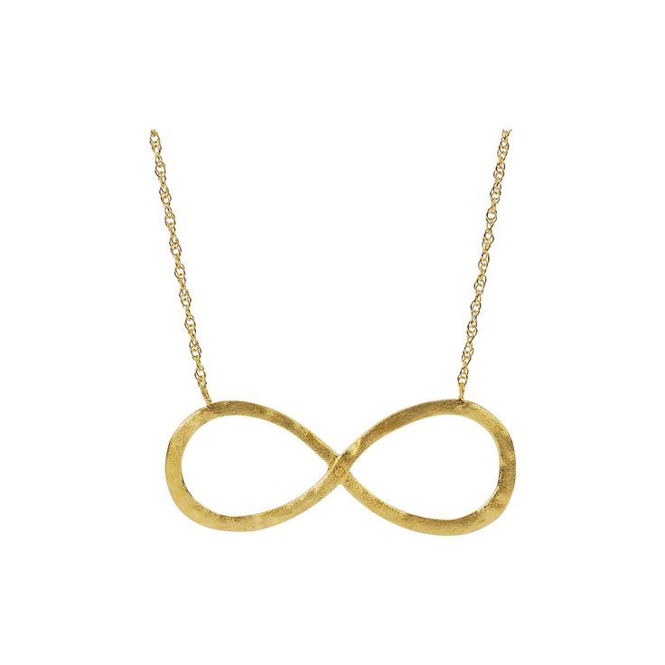 Women's Journee Collection Infinity Pendant Necklace in Sterling Silver - Gold (18)