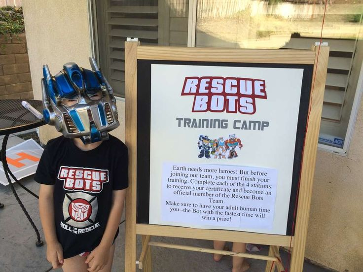 Modern Industrial Transformers Rescue Bots 5th Birthday | CatchMyParty.com