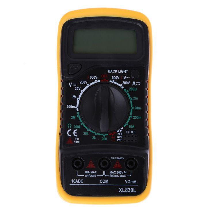 Kualitas tinggi Digital LCD Multimeter Voltmeter Ammeter AC DC OHM Volt Tester Uji Saat Ini