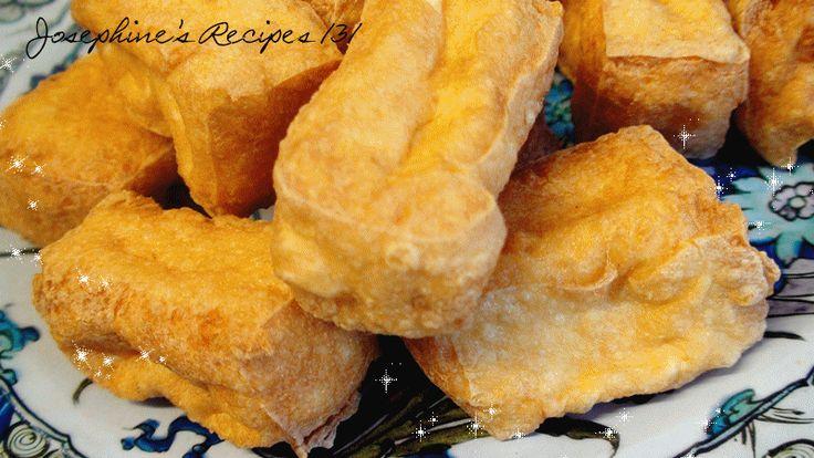 Josephine's Recipes : How To Deep Fried Tofu Puffs | Fried Beancurd | 油炸豆腐卜豆腐朴 豆腐泡 - Josephine's Recipes Episode 131