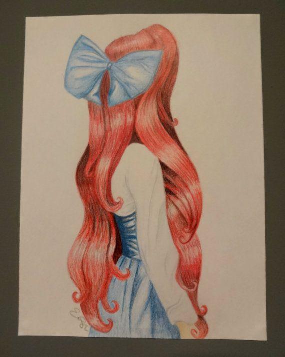 Disney's The Little Mermaid - Princess Ariel - Colored Pencil Drawing