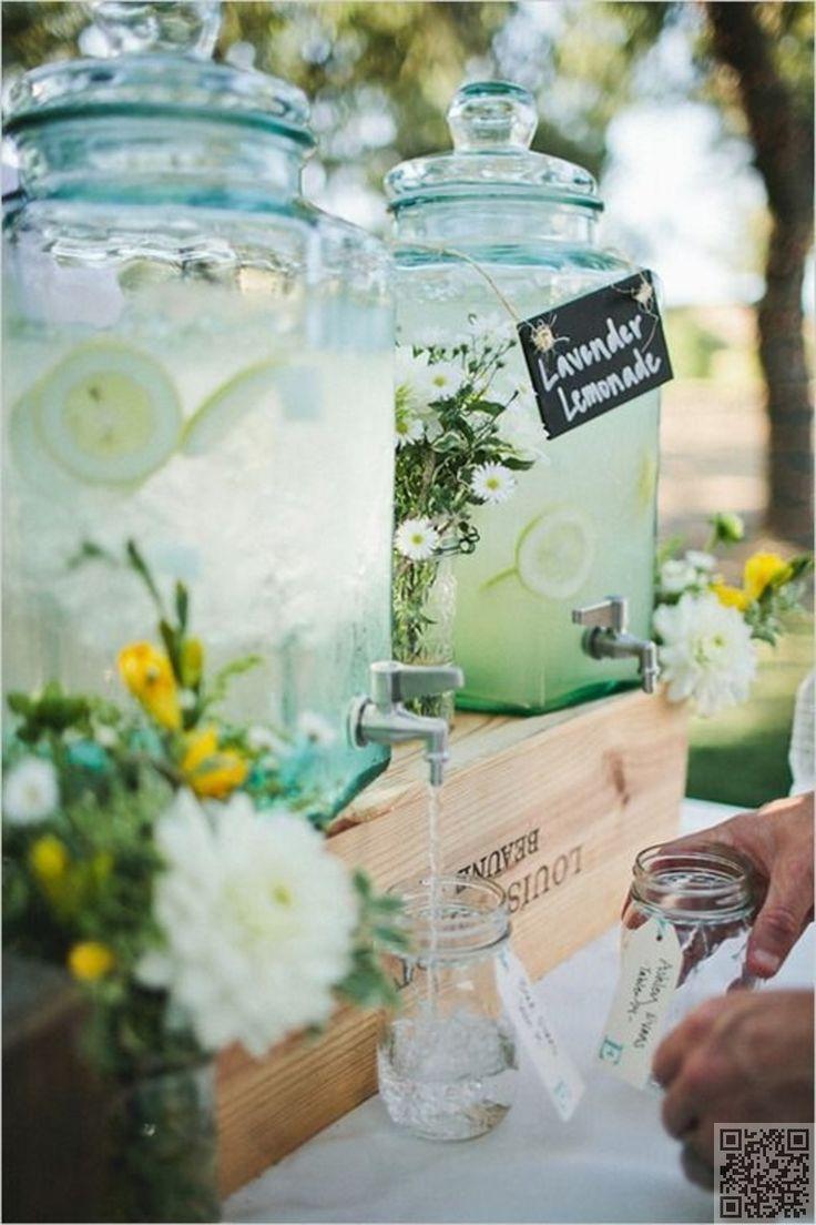 43. #distributeur de boissons - 51 #idées pour votre #mariage en plein #air... → #Wedding