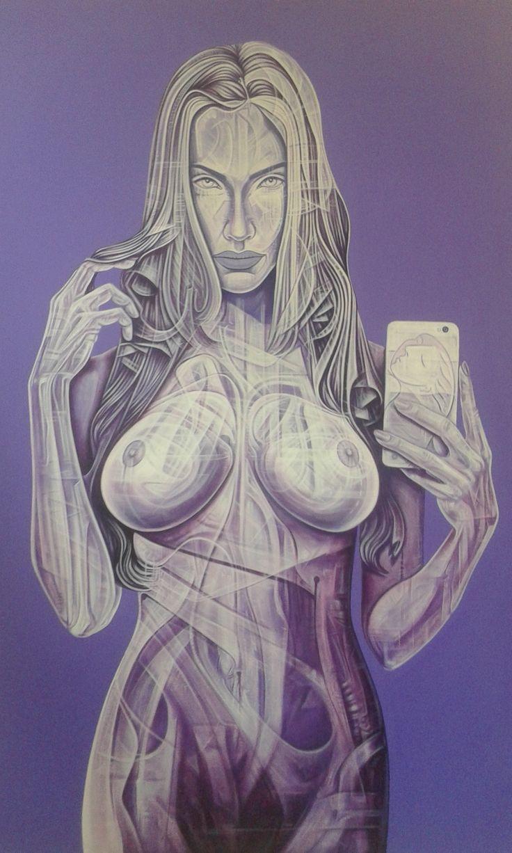 Author: Giò Max Ran Title: Selfie Measurements: 100cm x 70cm Technique: Acrylic on canvas Production Year: 2015/2016