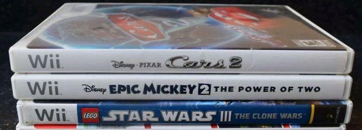 Wii Games Boys Lot of 3 Disney Lego Star Wars Clone Wars Epic Mickey Cars 2    eBay