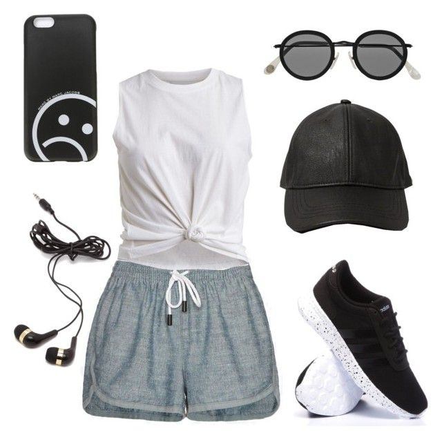 """Sport time⏰"" by mara-dobrita on Polyvore featuring rag & bone/JEAN, VILA, adidas, Abercrombie & Fitch, Acne Studios, Marc by Marc Jacobs and Forever 21"