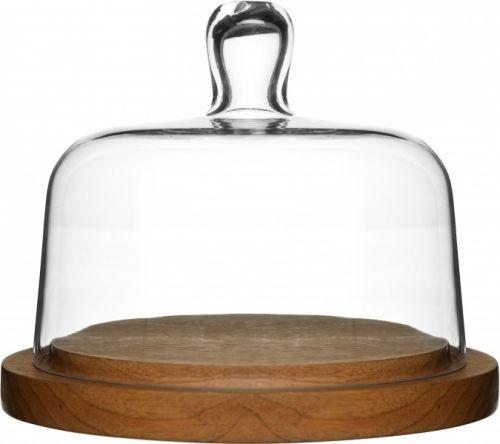 Oval oak osteklokke Av eik og munnblåst glass.Størrelse: Ø 180 mmEmballasje: Giftbox