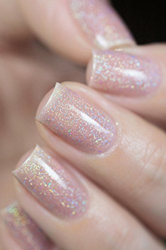 ILNP Sandy Baby - Peach Beige Holographic Sheer Jelly Nail Polish