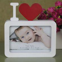 """Eu Te Amo Moldura Vermelha Em Forma de Coração Com Uma Foto 6x4 """"Para O Bebê Novo E Doce Presentes do amante(China (Mainland))"""