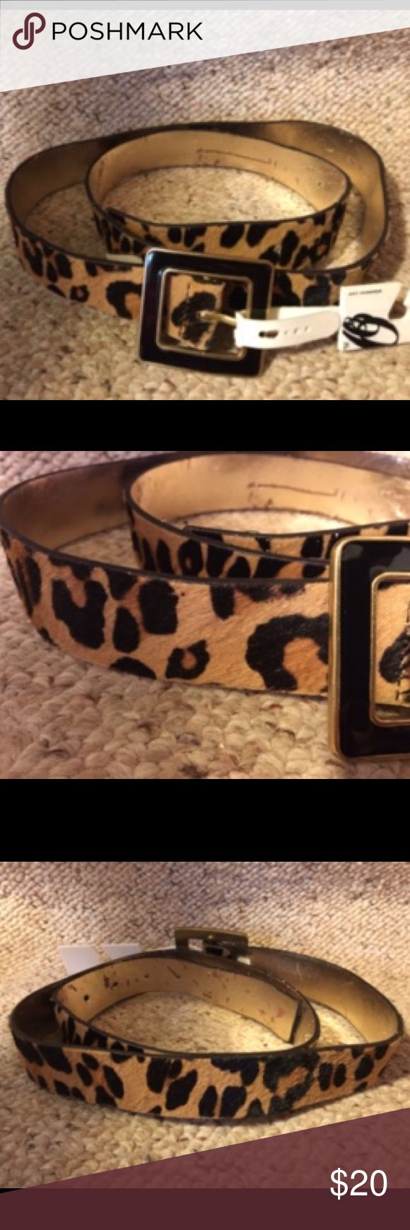 "Nine West Animal Print Calf Fur Belt Animal print calf fur belt with black with goldtone trim buckle. XL. 36"" to the first belt hole. 45"" long. NWT. Matches the Taryn Rose shoes I posted perfectly. Nine West Accessories Belts"