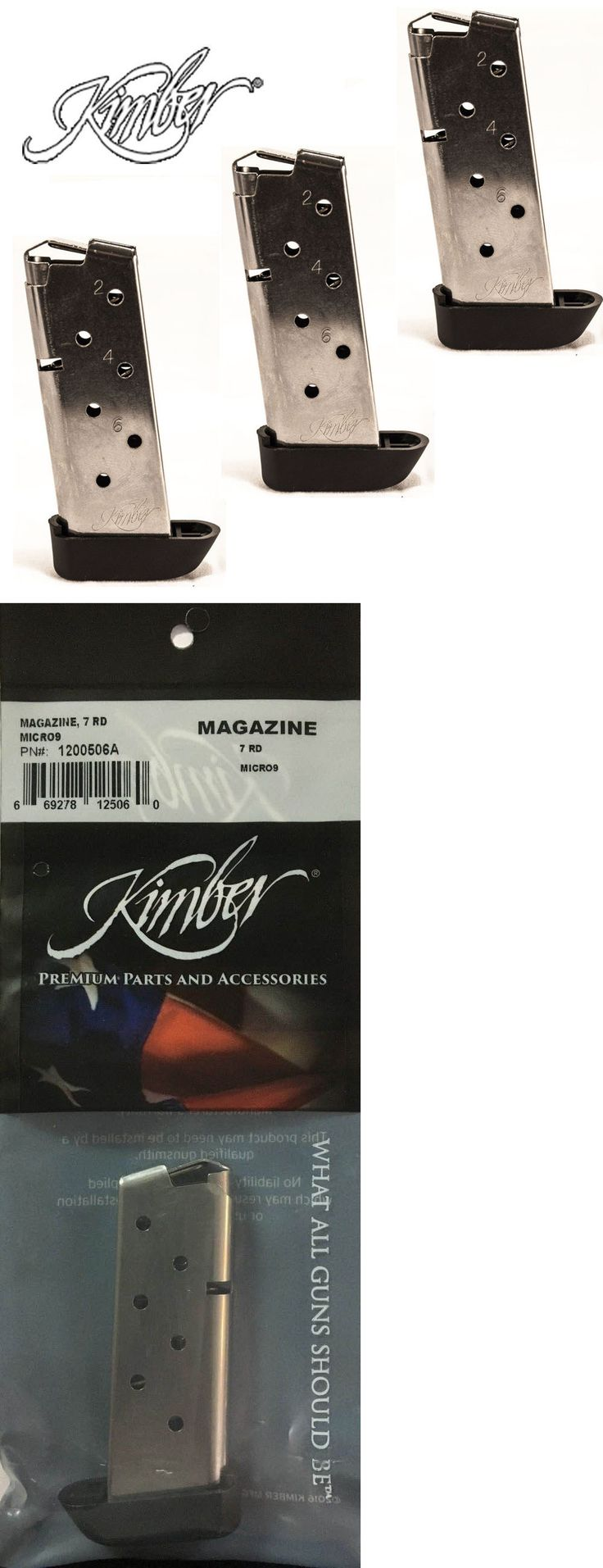 Magazines 177879: Kimber Factory ( Micro 9 ) 9Mm 7-Round Magazine W Extension (3-Pack) #1200506A -> BUY IT NOW ONLY: $77 on eBay!