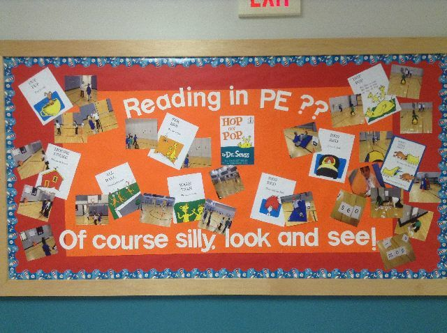 Literacy in PE bulletin board