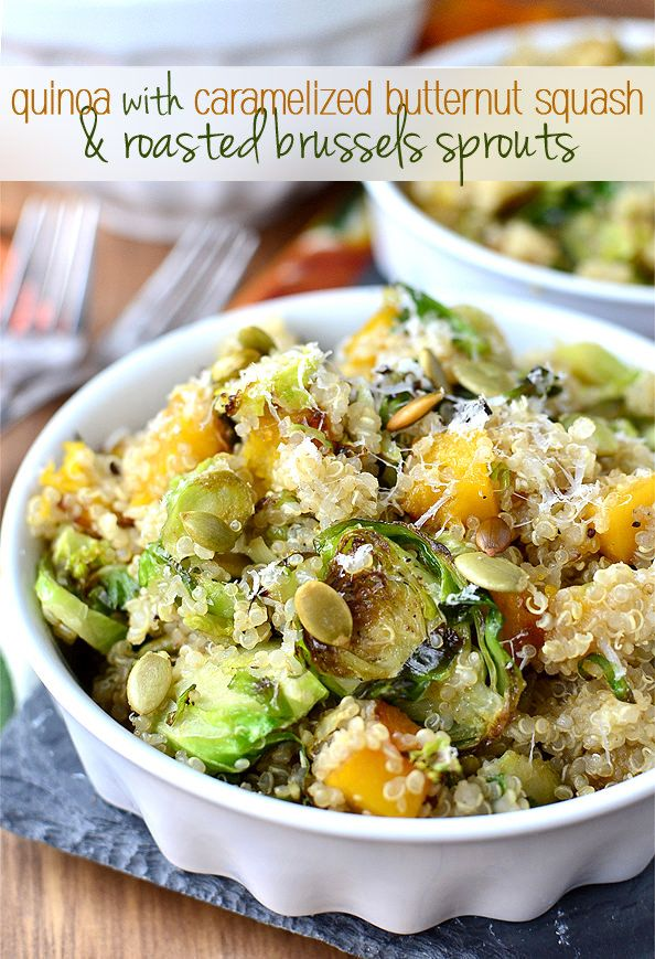 Quinoa+with+Caramelized+Butternut+Squash+and+Roasted+Brussels+Sprouts+|+iowagirleats.com