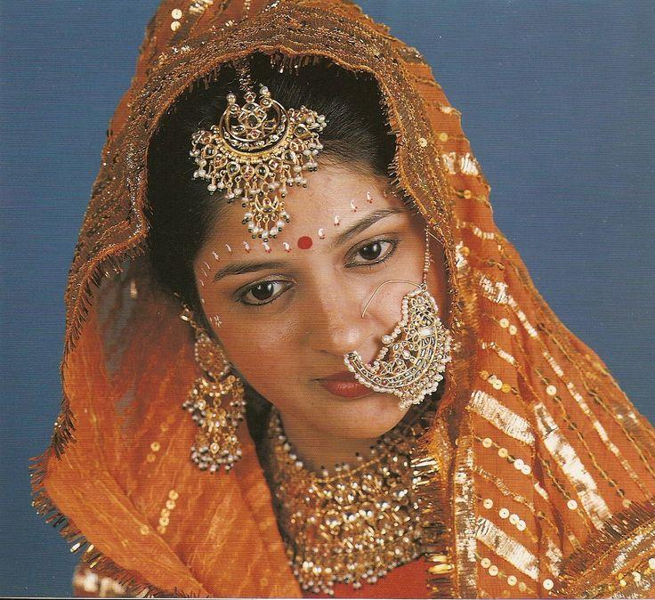indian facial adornments