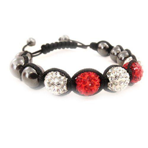 """Ethnic bracelet """"Shambhala"""" red white. Les Tresors de Lily. $19.00"""