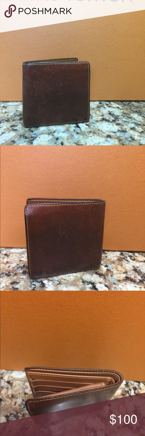 LOUIS VUITTON Men's Wallet See all pictures. The inside is in great condition some transfer dirt but no cracks or peeling or smells. The outside has scratch marks and little bubbles on the front. Could use a sand down and paint job Louis Vuitton Accessories Money Clips