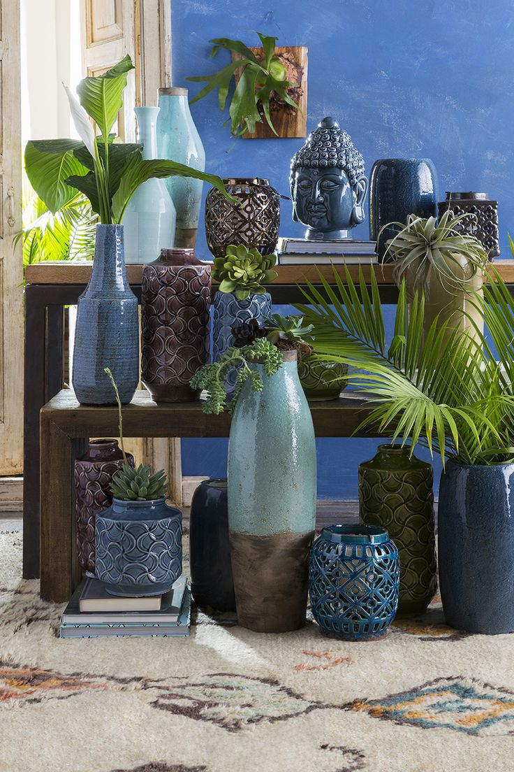 Bring the outdoors in with Surya's expanded collection of indoor/outdoor accent pieces.