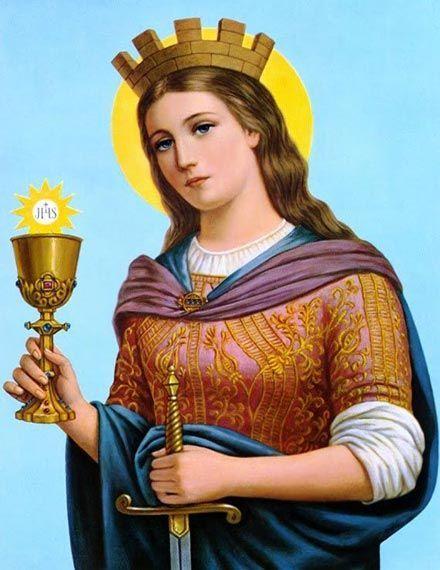 Imagen clásica y popular de Santa Bárbara, antigua virgen y mártir cristiana