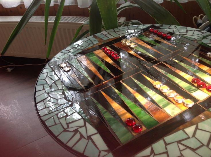Backgammon asztal