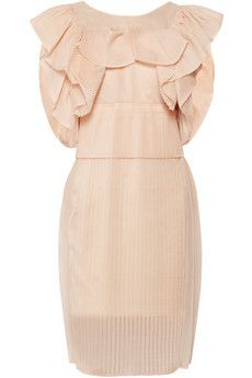 Chloé Ruffled silk-blend organza dress | THE OUTNET The placement and shape of the ruffles and the overall shape - skirt and bodice - move this away from Romantic and squarely into Youthful. SO cute!!