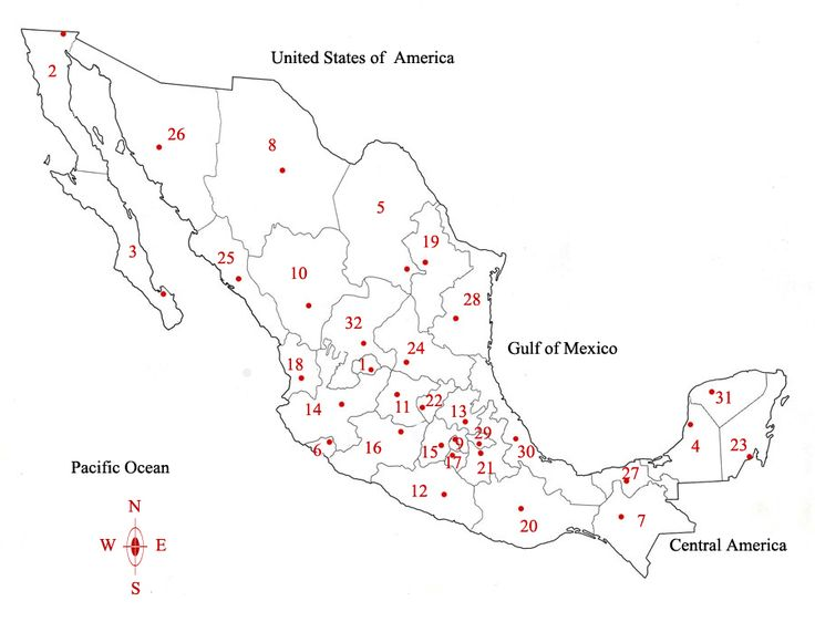 Image Result For Map Of Southern United States And Mexico